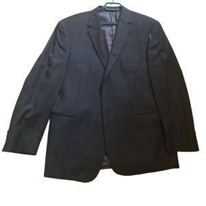 CHAPS Black Pinstripe Mens Blazer (Size XL)